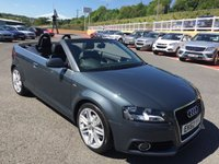 USED 2012 62 AUDI A3 CABRIOLET 1.8 TFSI S LINE 158 BHP Leather, Suede, BOSE Premium hi-fi, 18 inch alloys & more. Low miles