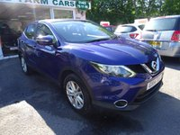 USED 2014 14 NISSAN QASHQAI 1.5 DCI ACENTA SMART VISION 5d 108 BHP One Owner, Just Serviced, MOT until May 2018 (no advisories), Superb on fuel! FREE Road Tax! Diesel