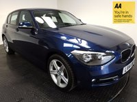 USED 2014 14 BMW 1 SERIES 2.0 116D SPORT 5d AUTO 114 BHP 1 OWNER-HISTORY-BLUETOOTH-SPORT-A/C
