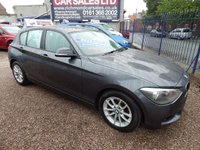 USED 2014 14 BMW 1 SERIES 1.6 116D EFFICIENTDYNAMICS BUSINESS 5d 114 BHP BLACK LEATHER, SATNAV, HEATED SEATS, F.S.H, ALLOYS