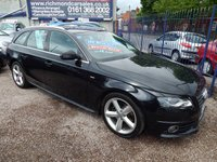 USED 2009 59 AUDI A4 2.0 AVANT TDI S LINE SPECIAL EDITION 5d 141 BHP HALF LEATHER INTERIOR, ALLOYS, CD, S.H