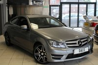 USED 2014 13 MERCEDES-BENZ C CLASS 2.1 C250 CDI BLUEEFFICIENCY AMG SPORT PLUS 2d 202 BHP FULL MERCEDES BENZ SERVICE HISTORY + CRUISE CONTROL + RAIN SENSORS + BLUETOOTH + 18 INCH ALLOYS + ELECTRIC SPORT SEATS + PARKING SENSORS + DAB RADIO