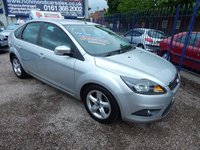 USED 2008 08 FORD FOCUS 1.6 ZETEC 5d 100 BHP AIR CONDITIONING, ALLOY WHEELS, CD PLAYER, GREAT VALUE