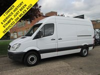 USED 2013 13 MERCEDES-BENZ SPRINTER 313CDI MWB HIGH ROOF. 1 OWNER. 8 SERVICE HISTORY STAMPS. PX CRUISE. 3X KEYS. LOW RATE FINANCE. PX WELCOME