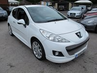 USED 2010 10 PEUGEOT 207 1.6 S16 3d 120 BHP RARE S16 MODEL , GREAT IN WHITE