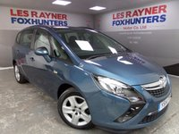 USED 2014 14 VAUXHALL ZAFIRA TOURER 2.0 EXCLUSIV CDTI 5d 128 BHP Full Vauxhall Service History , 1 owner , Great MPG