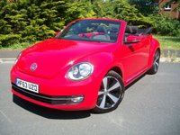 USED 2013 63 VOLKSWAGEN BEETLE 1.6 DESIGN TDI BLUEMOTION TECHNOLOGY DSG 3d AUTO 104 BHP Summer Sale Now On!! Save £600, Locally Supplied, ONE Lady Owner, 28,000 Miles From New with Full Volkswagen History, Rare Diesel Auto Convertible.
