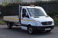 USED 2012 62 MERCEDES-BENZ SPRINTER 2.1 313 CDI MWB 2d 129 BHP EURO 5 RWD DIESEL MANUAL DROPSIDE LORRY  ONE OWNER FULL S/H EURO 5 ENGINE SPARE KEY
