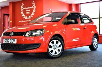 2012 VOLKSWAGEN POLO 1.2 S 3d 60 BHP £4995.00