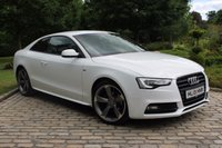 USED 2013 13 AUDI A5 2.0 TDI S LINE BLACK EDITION 2d 177 BHP Ibis White, Black Leather