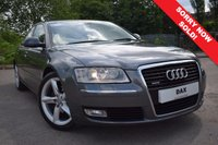 USED 2008 58 AUDI A8 3.0 TDI QUATTRO DPF SPORT 4d AUTO 229 BHP FSH! FANTASTIC SPEC INCLUDING DAB! NAV! REVERSE CAM! BLIND SPOT! KEYLESS AND MUCH MORE! SUPPLIED WITH 15 MONTHS WARRANTY!