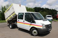 USED 2009 59 FORD TRANSIT 2.4 350 DRW 1d 115 BHP One Owner, Low Mileage, 6 Seats, 115 BHP, Rear Enclosed Tipper Body.
