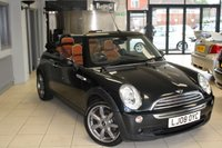 USED 2008 08 MINI CONVERTIBLE 1.6 COOPER SIDEWALK 2d 114 BHP MALT BROWN HEATED LEATHER SEATS + PARKING SENSORS + FULL SERVICE HISTORY + 15 INCH ALLOYS + RAIN SENSORS