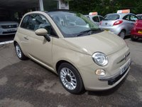 USED 2014 14 FIAT 500 0.9 TWINAIR CONVERTIBLE LOUNGE DUALOGIC 3d AUTO 85 BHP Very Low Mileage, Full Service History (Fiat + ourselves), One Lady Owner from new, Minimum 10 months MOT, Superb on fuel! FREE Road Tax!