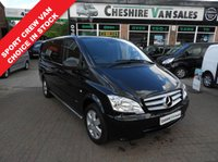 USED 2014 14 MERCEDES-BENZ VITO 2.1 116 CDI DUALINER LWB CREW VAN SPORTS 163 BHP 160 BHP FACTORY DUALINER CHOICE OF CREW VANS