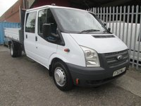 2014 FORD TRANSIT 350 Double Cab One Stop Alloy Tipper 125PS *ONE OWNER* £11995.00