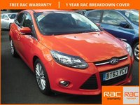 USED 2014 63 FORD FOCUS 1.0 ZETEC 5d 99 BHP