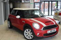 USED 2008 08 MINI HATCH COOPER 1.6 COOPER S 3d 172 BHP HALF BLACK LEATHER SEATS + FULL SERVICE HISTORY + XENONS + AIR CONDITIONING + HEATED SPORT SEATS + RAIN SENSORS + 17 INCH ALLOYS