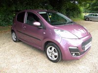 USED 2013 13 PEUGEOT 107 1.0 ALLURE 5d 68 BHP Bluetooth, Cheap tax, Low Insurance Group