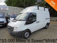 2011 FORD TRANSIT 2.2 TDCi 115 BHP 6 Speed MWB High Roof *53,000 Miles* £SOLD