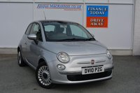 USED 2010 10 FIAT 500 1.2 LOUNGE 3d 69 BHP LOW LOW MILEAGE JUST 9942 & GLASS ROOF