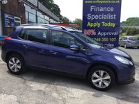 USED 2014 14 PEUGEOT 2008 1.4hdI Active 5 Door in Blue, 48000 miles *****FINANCE AVAILABLE APPLY ONLINE******