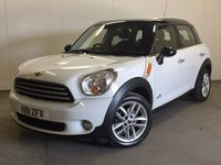 USED 2011 11 MINI COUNTRYMAN 1.6 COOPER D ALL4 5d 112 BHP LEATHER CRUISE PDC FSH 4WD. STUNNING WHITE WITH BLACK ROOF. PART BLACK LEATHER TRIM. CRUISE CONTROL. 17 INCH ALLOYS. COLOUR CODED TRIMS. PARKING SENSORS. BLUETOOTH PREP. CLIMATE CONTROL. R/CD PLAYER. 6 SPEED MANUAL. MFSW. MOT 06/18. ONE PREV OWNER. FULL SERVICE HISTORY. PRISTINE CONDITION. FCA FINANCE APPROVED DEALER. TEL 01937 849492.