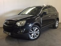 USED 2012 12 VAUXHALL ANTARA 2.2 SE CDTI 5d AUTO 182 BHP SAT NAV LEATHER PRIVACY PDC 4WD. SATELLITE NAVIGATION. STUNNING BLACK MET WITH FULL BLACK LEATHER TRIM. HEATED SEATS. CRUISE CONTROL. 19 INCH ALLOYS. COLOUR CODED TRIMS. PRIVACY GLASS. PARKING SENSORS. BLUETOOTH PREP. CLIMATE CONTROL. R/CD PLAYER. 6 SPEED MANUAL. MOT 06/18. ONE PREV OWNER. FULL SERVICE HISTORY. PRISTINE CONDITION. FCA FINANCE APPROVED DEALER. TEL 01937 849492.