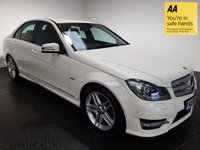USED 2011 61 MERCEDES-BENZ C CLASS 2.1 C220 CDI BLUEEFFICIENCY SPORT ED125 4d 170 BHP FSH-LEATHER-BLUETOOTH-NAV-ALLOYS