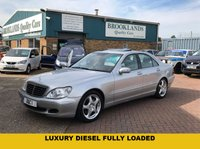"USED 2005 05 MERCEDES-BENZ S CLASS 3.2 S320 CDI 4d AUTO 204 BHP Luxury S-Class Diesel with Massive Spec Inc Leather  Heated Memory Massage Seats18"" Alloys * much more"