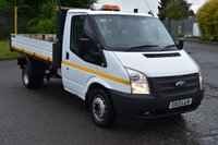 USED 2013 13 FORD TRANSIT 2.2 350 DRW 2d 124 BHP EURO 5 WMB RWD DIESEL PANEL MANUAL TIPPER ONE OWNER FULL S/H  SPARE KEY