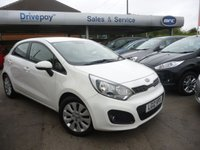 USED 2012 12 KIA RIO 1.4 2 5d 107 BHP NEED FINANCE? WE CAN HELP. WE STRIVE FOR 94% ACCEPTANCE