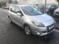 USED 2011 11 RENAULT SCENIC 1.5 DYNAMIQUE TOMTOM DCI 5d 110 BHP PRICE INCLUDES A 6 MONTH AA WARRANTY DEALER CARE EXTENDED GUARANTEE, 1 YEARS MOT AND A OIL & FILTERS SERVICE. 12 MONTHS FREE BREAKDOWN COVER