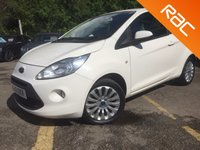 USED 2012 12 FORD KA 1.2 ZETEC 3d BLUETOOTH, REAR PARKING SENSORS, 1 OWNER 1 Owner, 5 Services, Rear PDC, Start Stop, Bluetooth, Air Con