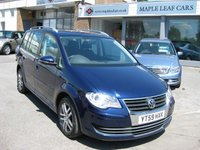 USED 2009 59 VOLKSWAGEN TOURAN 1.9 SE TDI 5d 103 BHP 7 Seats Air Conditioning Low Mileage
