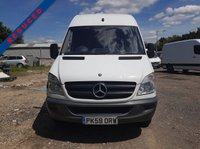 USED 2009 59 MERCEDES-BENZ SPRINTER 2.1 311 CDI LWB 1d 109 BHP LONG WHEEL BASE PLY LINED