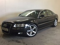 USED 2008 58 AUDI A8 3.0 TDI QUATTRO SPORT 4d AUTO 229 BHP 4WD SAT NAV LEATHER SATELLITE NAVIGATION. 4WD. STUNNING BLACK MET WITH FULL GREY LEATHER TRIM. ELECTRIC HEATED SEATS. CRUISE CONTROL. 19 INCH ALLOYS. COLOUR CODED TRIMS. PARKING SENSORS. BLUETOOTH PREP. CLIMATE CONTROL. TRIP COMPUTER. R/CD PLAYER. MFSW. MOT 03/18. SERVICE HISTORY. PRISTINE CONDITION. FCA FINANCE APPROVED DEALER. TEL 01937 849492