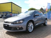 "USED 2009 09 VOLKSWAGEN SCIROCCO 2.0 GT DSG 3d AUTO 200 BHP FULL HEATED LEATHER ~ NAVIGATION ~ 18"" ALLOYS ~ FULL SERVICE HISTORY ~ CLIMATE CONTROL"