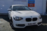 USED 2014 64 BMW 1 SERIES 1.6 116I SPORT 3d 135 BHP ONE OWNER FULL BMW SERVICE HISTORY