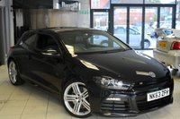 USED 2013 63 VOLKSWAGEN SCIROCCO 2.0 R DSG 3d 265 BHP BLACK HEATED LEATHER SEATS + SAT NAV + FULL VW SERVICE HISTORY + 0% FINANCE AVAILABLE T&C'S APPLY + 19 INCH ALLOYS + BLUETOOTH + AUTO LIGHTS + CRUISE CONTROL