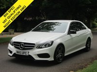 USED 2015 15 MERCEDES-BENZ E CLASS 2.1 E220 CDI BLUETEC AMG NIGHT EDITION 4d AUTO 174 BHP. 1 OWNER. LOW RATE FINANCE. PX WELCOME. VAT QUALIFYING CAR.
