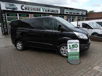 USED 2014 14 FORD TRANSIT CUSTOM 2.2 290 LIMITED L1 125 BHP A/C CRUISE  CHOICE IN STOCK TOP OF RANGE CUSTOM PANTHER BLACK