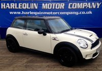 USED 2007 56 MINI HATCH COOPER 1.6 COOPER S 3d 172 BHP OLD ENGLISH WHITE MINI COOPER S 1/2 LEATHER BLACK ALLOYS AIR CON FULL SERVICE HISTORY MUST BE VIEWED