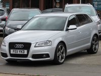 2011 AUDI A3 1.8 SPORTBACK TFSI S LINE SPECIAL EDITION 5d 153 BHP £8995.00