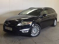 USED 2013 13 FORD MONDEO 1.6 ZETEC BUSINESS EDITION TDCI 5d 114 BHP SAT NAV ONE OWNER FSH £30 YEAR ROAD TAX. 65 MPG. SATELLITE NAVIGATION. STUNNING BLACK MET WITH CONTRASTING BLACK CLOTH TRIM. CRUISE CONTROL. 17 INCH ALLOYS. COLOUR CODED TRIMS. PRIVACY GLASS. PARKING SENSORS. BLUETOOTH PREP. CLIMATE CONTROL. R/CD PLAYER. 6 SPEED MANUAL. MFSW. MOT 06/18. ONE OWNER FROM NEW. FULL DEALER SERVICE HISTORY. PRISTINE CONDITION. FCA FINANCE APPROVED DEALER. TEL 01937 849492.