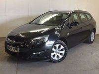 USED 2014 14 VAUXHALL ASTRA 1.6 DESIGN CDTI ECOFLEX S/S 5d 134 BHP ONE OWNER FSH £20 YEAR ROAD TAX. 72 MPG. FACELIFT MODEL. STUNNING BLACK MET WITH CONTRASTING BLACK CLOTH TRIM. CRUISE CONTROL. 16 INCH ALLOYS. COLOUR CODED TRIMS. BLUETOOTH PREP. CLIMATE CONTROL. R/CD PLAYER. 6 SPEED MANUAL. MFSW. MOT 03/18. ONE OWNER FROM NEW. FULL SERVICE HISTORY. PRISTINE CONDITION. FCA FINANCE APPROVED DEALER. TEL 01937 849492.