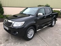 USED 2014 64 TOYOTA HI-LUX 3.0 INVINCIBLE 4X4 D-4D DCB 1d 169 BHP BEAUTIFUL VEHICLE, LEATHER, REVERSE CAMERA, SAT NAV, LOW MILES