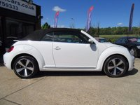 "USED 2014 14 VOLKSWAGEN BEETLE CONVERTABLE 1.6 DESIGN TDI BLUEMOTION TECHNOLOGY DSG 3d AUTO 104 BHP AUTOMATIC RAC INSPECTED, ONE OWNER, 18"" ALLOYS, AIR CONDITIONING, PARKING SENSORS, FULL MAIN DEALER SERVICE HISTORY"