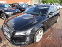 USED 2008 58 AUDI A4 1.8 TFSI S LINE 4d 158 BHP 1 OWNER FULL HISTORY