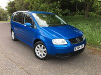 2004 VOLKSWAGEN TOURAN 1.6 SE FSI 7 STR 5d 114 BHP PLEASE CALL TO VIEW £SOLD